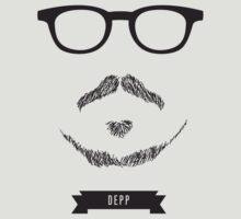 Beards with Glasses – Johnny Depp by Justin Ladia