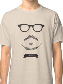 Beards with Glasses – Johnny Depp Classic T-Shirt