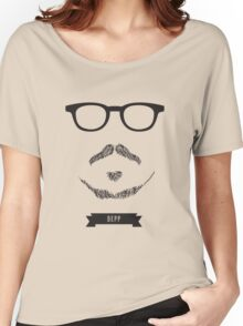 Beards with Glasses – Johnny Depp Women's Relaxed Fit T-Shirt