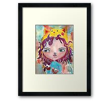 Inner Child - Lollipop Girl Framed Print