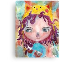 Inner Child - Lollipop Girl Canvas Print
