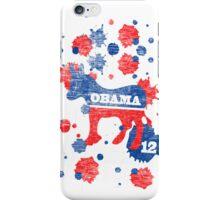 Obama 2012 Paint Shirt iPhone Case/Skin