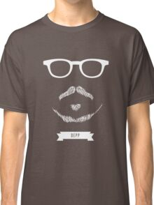 Beards with Glasses – Johnny Depp in White Classic T-Shirt