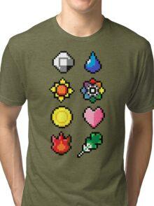 Indigo League Badges V.2 Tri-blend T-Shirt