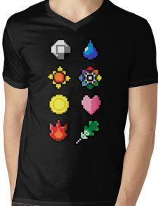 Indigo League Badges V.2 Mens V-Neck T-Shirt