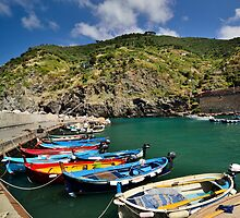 Boats posing for the tourists ;) by Stefania Avram