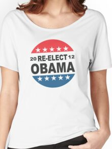 Re-Elect Obama Button Shirt Women's Relaxed Fit T-Shirt