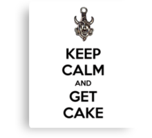 Keep calm and get cake (Supernatural) Canvas Print