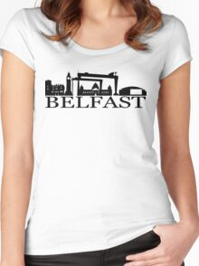 belfast city Women's Fitted Scoop T-Shirt