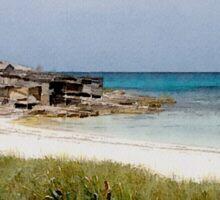 Playa de Illetas Watercolour Sticker