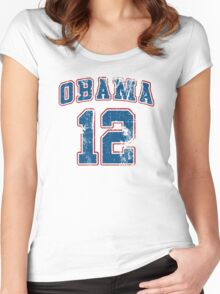 Retro Obama 2012 Women's Shirt Women's Fitted Scoop T-Shirt