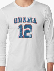 Retro Obama 2012 Women's Shirt Long Sleeve T-Shirt