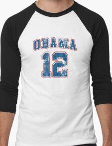 Retro Obama 2012 Women's Shirt Men's Baseball ¾ T-Shirt