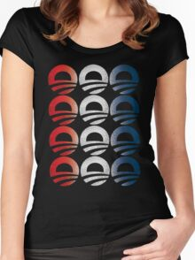 Red White and Blue Obama Logo Women's Shirt Women's Fitted Scoop T-Shirt