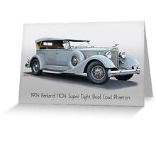 1934 Packard 1104 Super Eight Dual Cowl Phaeton w Title Greeting Card