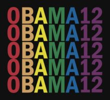 Obama Pride 2012 Retro Rainbow Women's Shirt by ObamaShirt