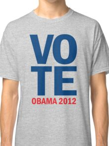 Vote Obama 2012 Women's Shirt Classic T-Shirt