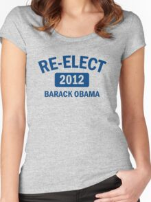Re-Elect Obama 2012 Women's Shirt Women's Fitted Scoop T-Shirt