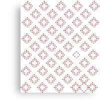 Red and White  Squares Canvas Print
