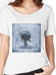 Watercolour Tulips in Blue Women's Relaxed Fit T-Shirt