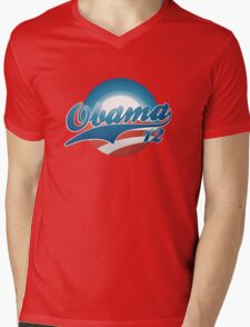 Vintage Obama 12 Shirt Mens V-Neck T-Shirt