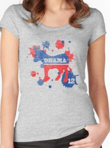 Obama 2012 Paint Shirt Women's Fitted Scoop T-Shirt