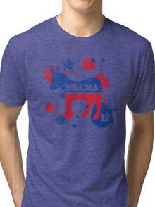 Obama 2012 Paint Shirt Tri-blend T-Shirt