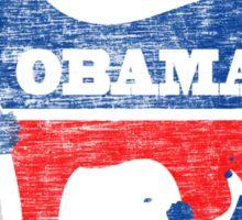 Obama 2012 Paint Shirt Sticker