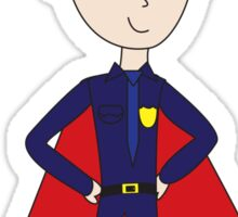Police Officers Are Super Heroes (Male) Sticker