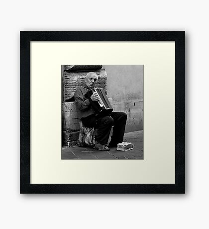 The Old Music Man Framed Print