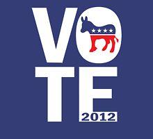 Vote Democrat 2012 Women's Shirt Womens Fitted T-Shirt