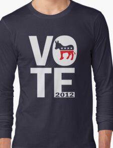 Vote Democrat 2012 Shirt Long Sleeve T-Shirt
