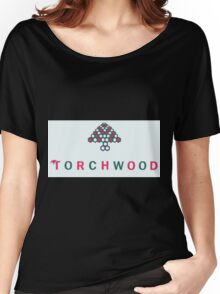 Christmas style Torchwood logo  Women's Relaxed Fit T-Shirt