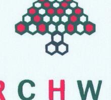 Christmas style Torchwood logo  Sticker