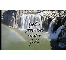 """God's promises never fail."" by Carter L. Shepard Photographic Print"