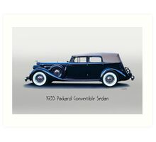 1935 Packard Convertible Sedan w Title Art Print