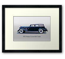 1935 Packard Convertible Sedan w Title Framed Print