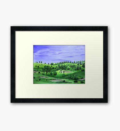 Green hills  Framed Print