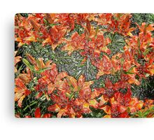 beautiful red lilies Canvas Print