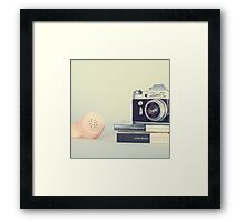 Vintage Camera and Retro Telephone  Framed Print