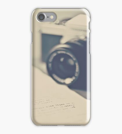 Film Camera  an Love Letter  iPhone Case/Skin
