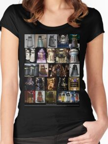 Dalek Variants Women's Fitted Scoop T-Shirt