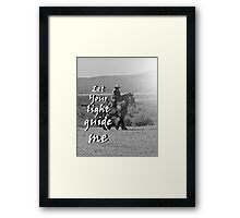 """Let Your light guide me"" by Carter L. Shepard Framed Print"