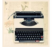 Retro Typewriter Photographic Print