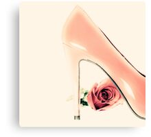 Pink Heel and Rose  Canvas Print