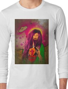 Keanu Jesus Antique Oil Long Sleeve T-Shirt