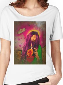Keanu Jesus Antique Oil Women's Relaxed Fit T-Shirt