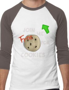 JOIN ME FOR FREE COOKIES Men's Baseball ¾ T-Shirt