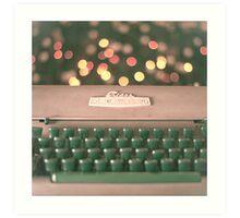Typewriter and Magic Lights  Art Print