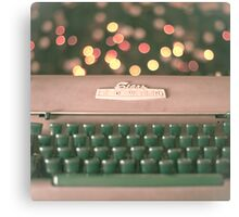 Typewriter and Magic Lights  Canvas Print